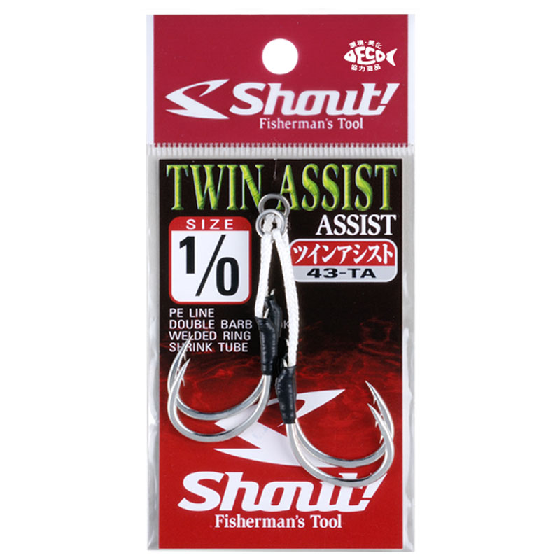 Shout Twin Assist Double Barb Hook 43-TA на jpmania.ru