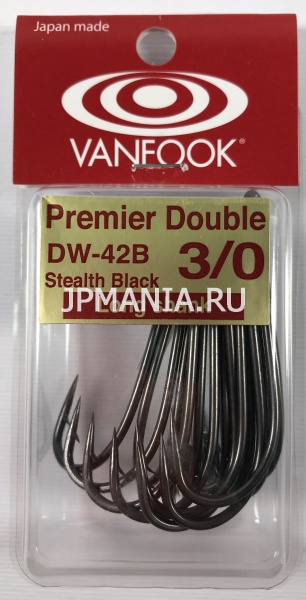 VanFook DW-42 Super Strong Long Shank Double Hook Heavy Wire на jpmania.ru